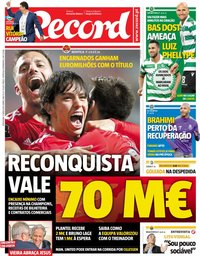 capa Jornal Record de 17 maio 2019