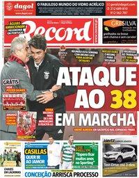 capa Jornal Record de 20 maio 2019