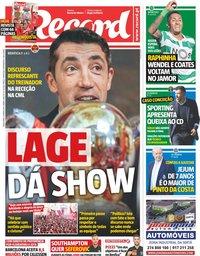 capa Jornal Record de 21 maio 2019