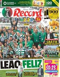 capa Jornal Record de 26 maio 2019