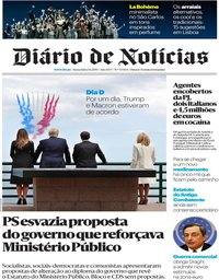 capa Diário de Notícias de 7 junho 2019