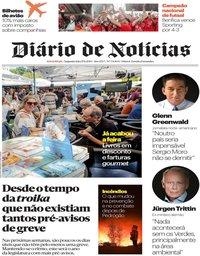capa Diário de Notícias de 17 junho 2019