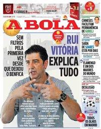 capa Jornal A Bola de 1 junho 2019