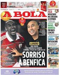 capa Jornal A Bola de 3 junho 2019
