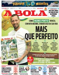 capa Jornal A Bola de 4 junho 2019