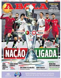 capa Jornal A Bola de 5 junho 2019