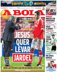 capa Jornal A Bola de 7 junho 2019