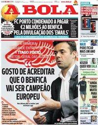 capa Jornal A Bola de 8 junho 2019
