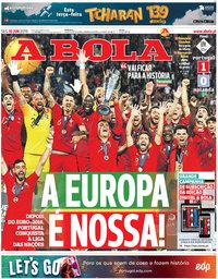 capa Jornal A Bola de 10 junho 2019