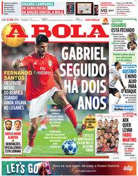 capa Jornal A Bola de 12 junho 2019