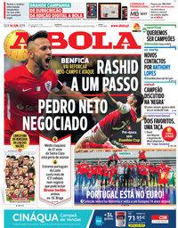 capa Jornal A Bola de 14 junho 2019