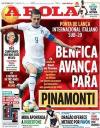 capa Jornal A Bola de 15 junho 2019
