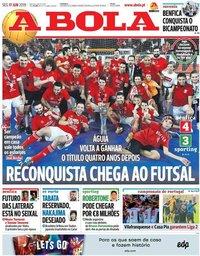 capa Jornal A Bola de 17 junho 2019