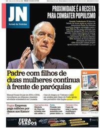 capa Jornal de Notícias de 1 junho 2019