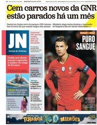 capa Jornal de Notícias de 6 junho 2019