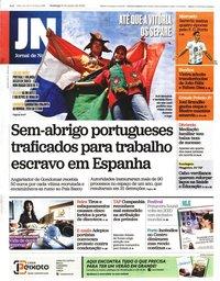 capa Jornal de Notícias de 9 junho 2019