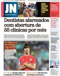 capa Jornal de Notícias de 18 junho 2019