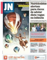 capa Jornal de Notícias de 24 junho 2019