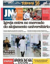 capa Jornal de Notícias de 27 junho 2019