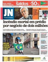capa Jornal de Notícias de 29 junho 2019