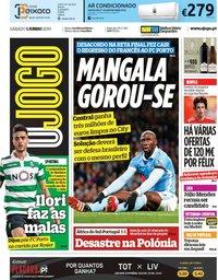 capa Jornal O Jogo de 1 junho 2019