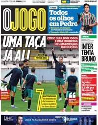 capa Jornal O Jogo de 5 junho 2019
