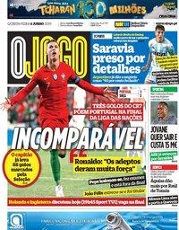 capa Jornal O Jogo de 6 junho 2019