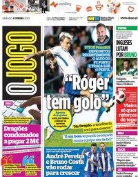 capa Jornal O Jogo de 8 junho 2019