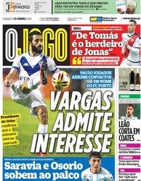 capa Jornal O Jogo de 15 junho 2019