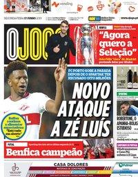 capa Jornal O Jogo de 17 junho 2019
