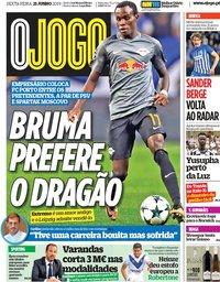 capa Jornal O Jogo de 21 junho 2019