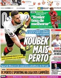 capa Jornal O Jogo de 22 junho 2019