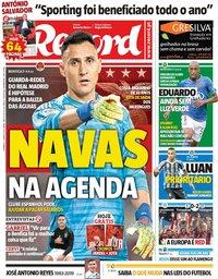 capa Jornal Record de 2 junho 2019