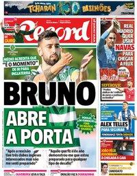 capa Jornal Record de 3 junho 2019