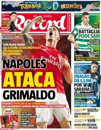 capa Jornal Record de 4 junho 2019