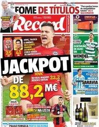 capa Jornal Record de 5 junho 2019