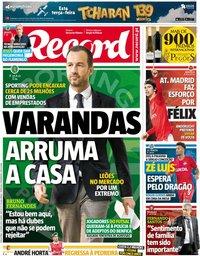 capa Jornal Record de 11 junho 2019