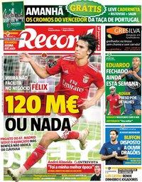 capa Jornal Record de 12 junho 2019