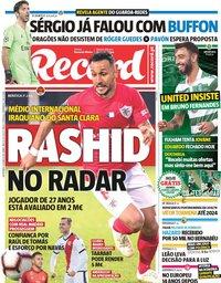 capa Jornal Record de 14 junho 2019