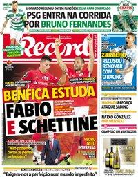 capa Jornal Record de 15 junho 2019