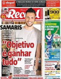 capa Jornal Record de 16 junho 2019