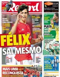 capa Jornal Record de 17 junho 2019
