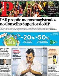 capa Público de 1 junho 2019