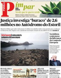 capa Público de 30 junho 2019