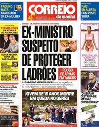 capa Correio da Manhã de 24 julho 2019