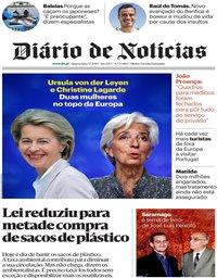 capa Diário de Notícias de 3 julho 2019