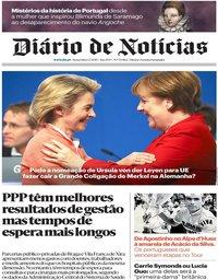 capa Diário de Notícias de 5 julho 2019