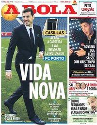 capa Jornal A Bola de 2 julho 2019
