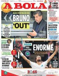 capa Jornal A Bola de 7 julho 2019