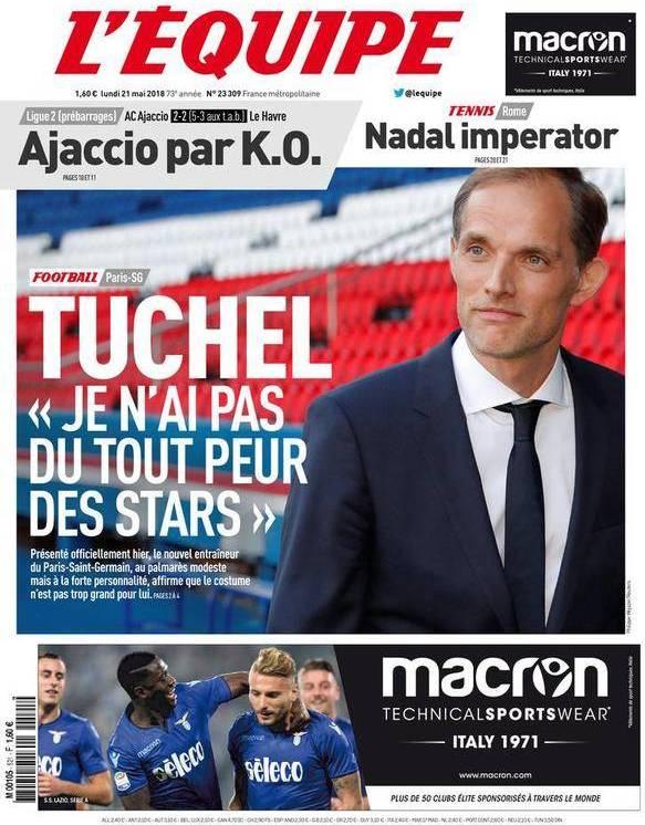 capa Jornal L'Équipe